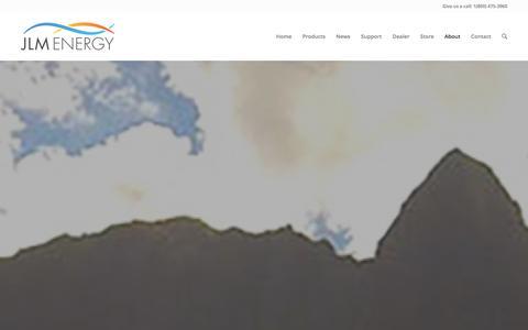 Screenshot of About Page jlmenergyinc.com - About Us   JLM Energy, Inc. - captured Dec. 16, 2015
