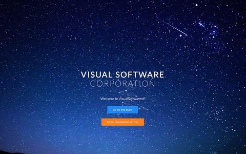 Screenshot of Home Page visualsoftwarecorporation.tk - Visual Software Corporation - captured Jan. 11, 2016