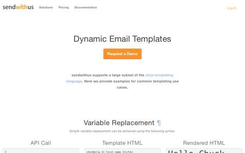 Dynamic Email Templates · Sendwithus