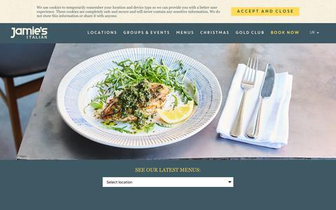 Screenshot of Menu Page jamieoliver.com - Jamie's Italian Restaurant Menu   Traditional Italian Food - captured Oct. 20, 2018