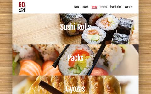 Screenshot of Menu Page gosushi.com.au - Menu - Go Sushi Stores - captured Aug. 20, 2017