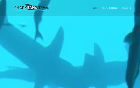 Screenshot of Home Page sharktankteam.com - SharkTank Team™ - captured Sept. 30, 2014