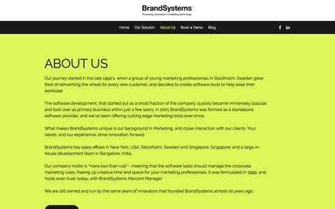 Screenshot of About Page brandsystems.com - About Us | BrandSystems - captured Aug. 3, 2018