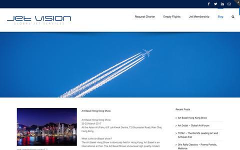 Screenshot of Blog jet-vision.com - Blog - Jet Vision - captured June 8, 2017