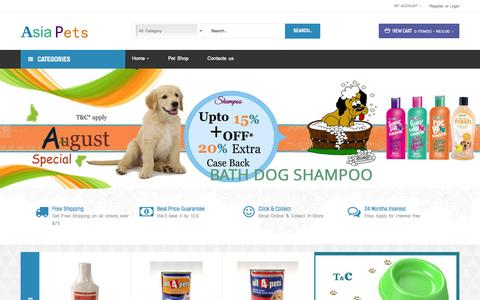 Screenshot of Home Page asiapets.in - Online Pet Shops for Buy-Sell - Online Pets Shop, Online Pets Store Delhi , Dog For Sale in Delhi, Dog For Sale in Mumbai, Puppy For Sale in Mumbai, Puppies For Sale in delhi - captured Aug. 11, 2015