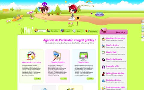 Screenshot of Home Page goplay.es - Agencia de Publicidad goPlay: diseño web y diseño grafico Málaga - captured Oct. 4, 2014