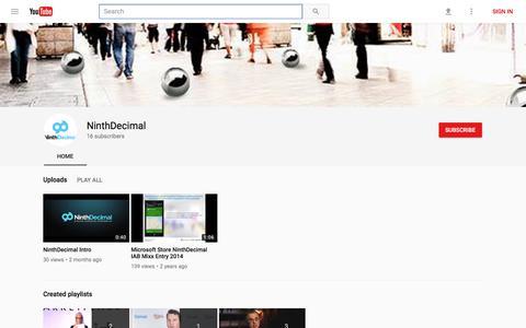 NinthDecimal - YouTube