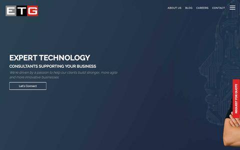 Screenshot of Home Page etisbew.com - Etisbew - IT Services, Enterprise Solutions, Delivering Commitments - captured July 13, 2019