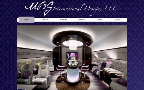 Screenshot of Home Page mbginternationaldesign.com - VIP & Private Business Aircraft Design; Aircraft Interior Design - captured Feb. 3, 2016