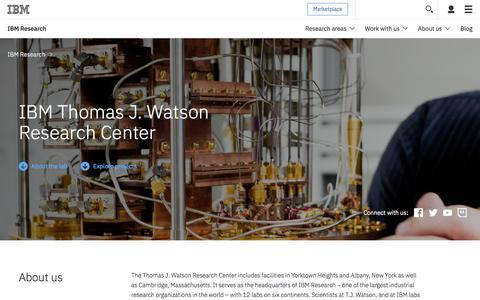 Thomas J. Watson Research Center - Locations