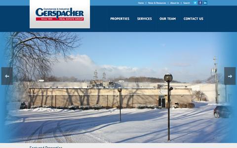 Screenshot of Home Page gerspachergroup.com - Home Page | Gerspacher Real Estate Group - captured Jan. 23, 2015