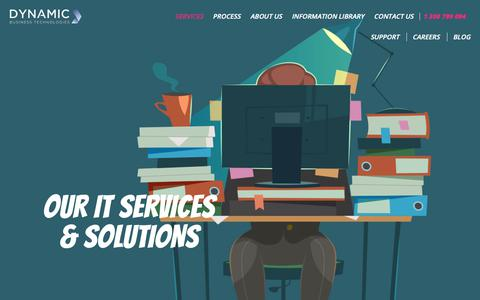 Screenshot of Services Page dbtechnologies.com.au - Managed IT Services & Solutions - Dynamic Business Technologies - captured Oct. 9, 2018