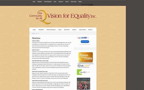 Screenshot of Maps & Directions Page visionforequality.org - Directions | Vision for EQuality - captured Oct. 26, 2014