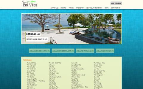 Screenshot of Site Map Page beachbalivillas.com - sitemap Beach Bali Villas   Bali Villas - captured Sept. 30, 2014