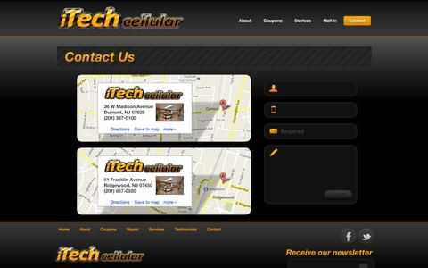 Screenshot of Contact Page Maps & Directions Page itechcellular.com - Contact iTech Cellular - captured Oct. 23, 2014