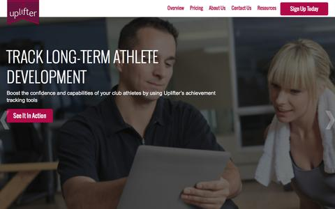 Screenshot of Home Page uplifterinc.com - Uplifter Inc - captured Jan. 10, 2016