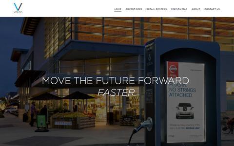 Screenshot of Home Page voltacharging.com - Volta Charging | Home - captured Jan. 14, 2015