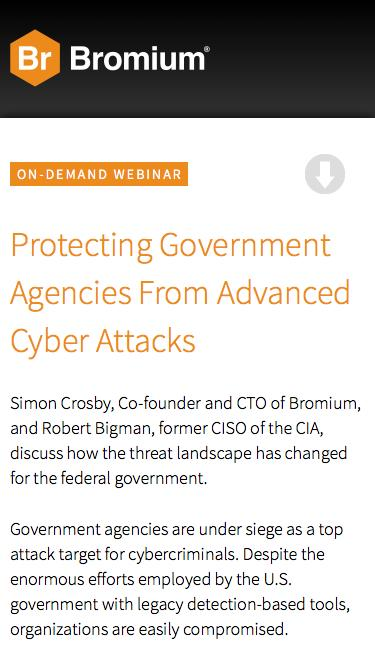 Protecting Government Agencies From Advanced Cyber Attacks