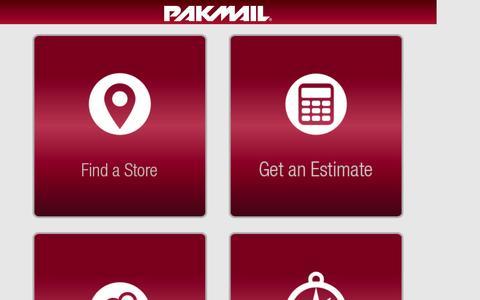 Screenshot of Menu Page pakmail.com - PakMail - captured Sept. 19, 2014
