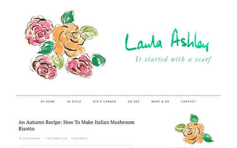 Screenshot of Blog lauraashleyusa.com - Laura Ashley | It All Started with a Scarf... - captured Sept. 27, 2018