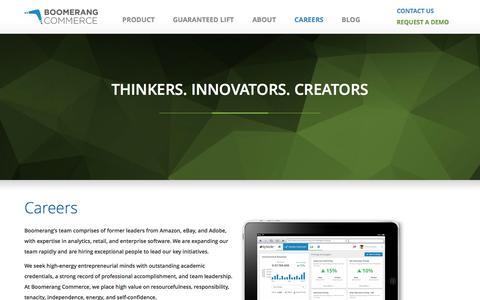 Screenshot of Jobs Page boomerangcommerce.com - Boomerang Commerce - captured Sept. 19, 2014