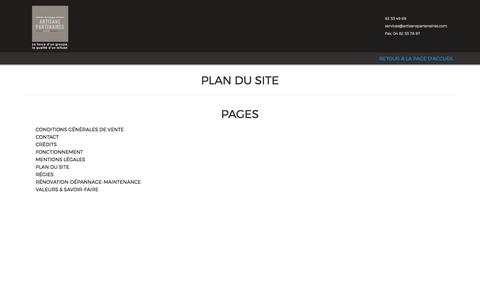 Screenshot of Site Map Page artisanspartenaires.com - Plan du site - Artisans PartenairesArtisans Partenaires - captured May 30, 2017