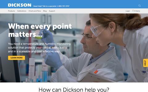 Screenshot of Home Page dicksondata.com captured Nov. 24, 2016