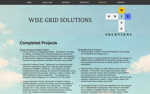 Screenshot of Team Page wisegridsolutions.com - wisegridsolutions | PROJECTS - captured Dec. 14, 2016