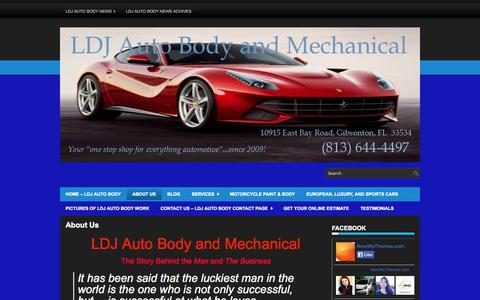 Screenshot of About Page ldjautobody.com - About Us | LDJ Auto Body & Mechanical - captured Oct. 1, 2014