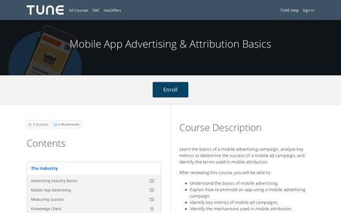 Mobile App Advertising & Attribution Basics