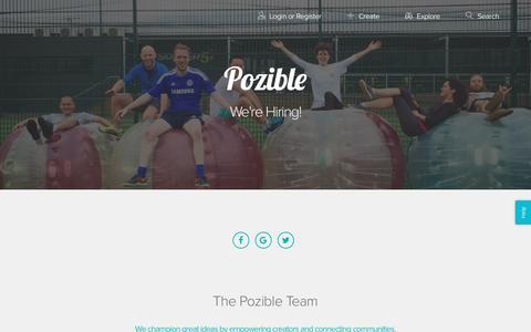 Screenshot of Jobs Page pozible.com - Pozible - Jobs - captured Jan. 14, 2017
