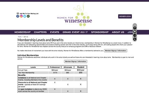 Screenshot of Signup Page womenforwinesense.org - Join Us - Women For WineSense - captured Sept. 20, 2018