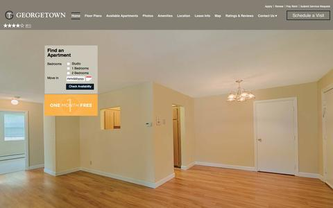 Screenshot of Home Page georgetownapthomes.com - Georgetown Apartment Homes in Framingham, MA | Home - captured Jan. 27, 2016