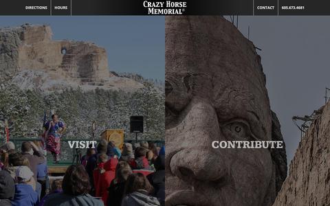Screenshot of Home Page crazyhorsememorial.org - Home of the Crazy Horse Memorial : Crazy Horse Memorial® - captured Nov. 11, 2018