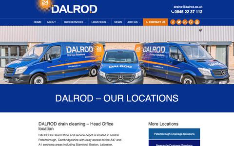 Screenshot of Locations Page dalrod.co.uk - DALROD – Our Locations - captured Oct. 7, 2018
