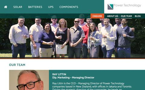 Screenshot of Team Page powertech.co.nz - Our Team | Power Technology - captured Aug. 18, 2017