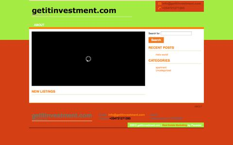 Screenshot of Home Page getitinvestment.com captured Oct. 2, 2014