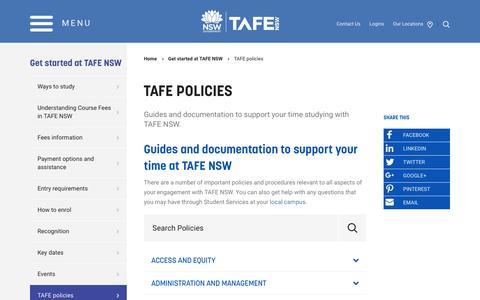 TAFE policies - TAFE