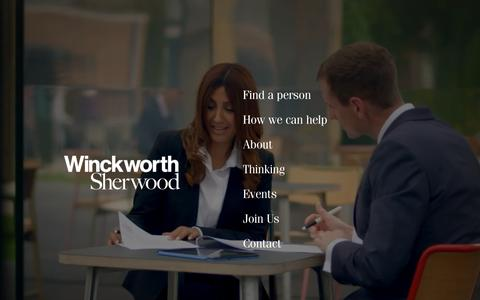 Screenshot of Home Page wslaw.co.uk - Winckworth Sherwood LLP | Full service law firm | London Bridge - captured Oct. 20, 2018