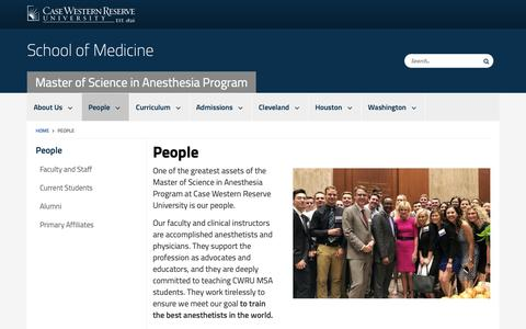 Screenshot of Team Page case.edu - People | Master of Science in Anesthesia Program | School of Medicine | Case Western Reserve University | Case Western Reserve University - captured Oct. 25, 2018