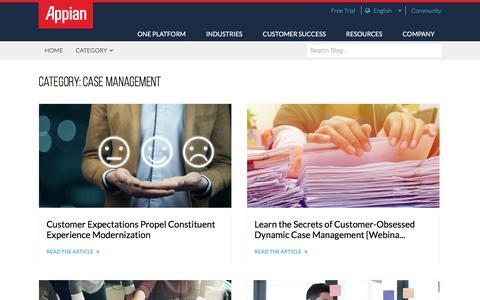 Screenshot of Case Studies Page appian.com - Case Management Archives - Appian Blog - captured June 22, 2018