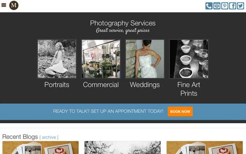 Screenshot of Services Page marenphoto.com - Maren McGowan Photography | Photography Services - captured Oct. 27, 2014