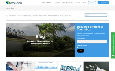 Screenshot of Blog homeunion.com - Real Estate Investment Property Advisors | HomeUnion Blog - captured May 9, 2018