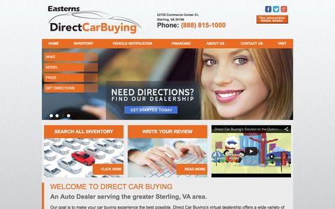 Screenshot of Home Page directcarbuying.com - Direct Car Buying | Sterling, VA Used Car Dealer - captured Jan. 7, 2016