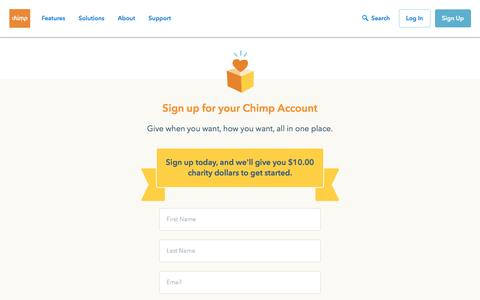 Give to any Canadian charity | Chimp