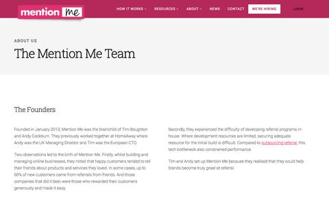 Screenshot of Team Page mention-me.com - The Mention Me Team -  the referral marketing experts - captured Sept. 20, 2018
