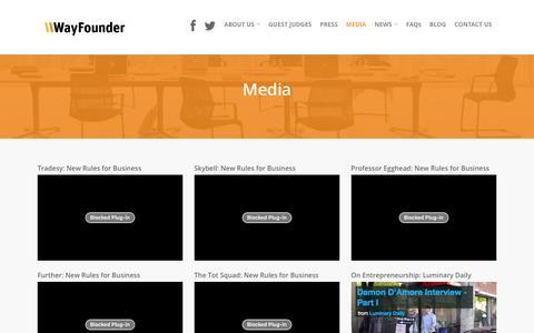 Screenshot of Press Page wayfounder.com - Media    WayFounder.com - captured Jan. 13, 2016