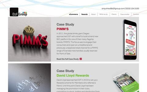 Screenshot of Case Studies Page d2fgroup.com - Case Studies - D2FGroup - captured July 31, 2016
