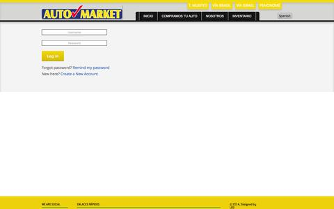 Screenshot of Login Page automarketpanama.com - Log in to your Account - captured Oct. 27, 2014