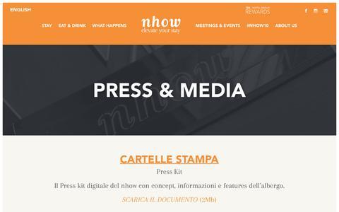 Screenshot of Press Page nhow-milan.com - PRESS - NHOW Milan - captured Jan. 30, 2018